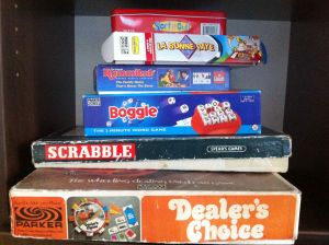 Dealer's Choice, Scrabble, Boggle...