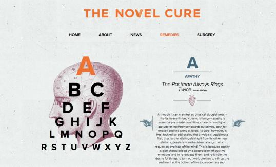 The Novel Cure - Remedies