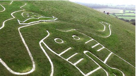 The Cerne Abbas Giant sports a 'tache for Movember