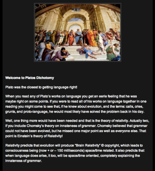 Platos Dichotomy (sic)