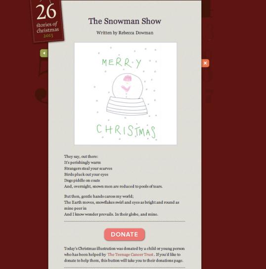 Rebecca Dowman's sestude: The Snowman Show